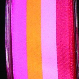 Red Pink and Orange Woven Stripes Wired Craft Ribbon 15 x 54 Yards >>> Details can be found by clicking on the image.