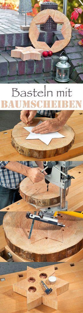 Basteln Mit Baumscheiben Holz Pinterest Basteln Baum Und