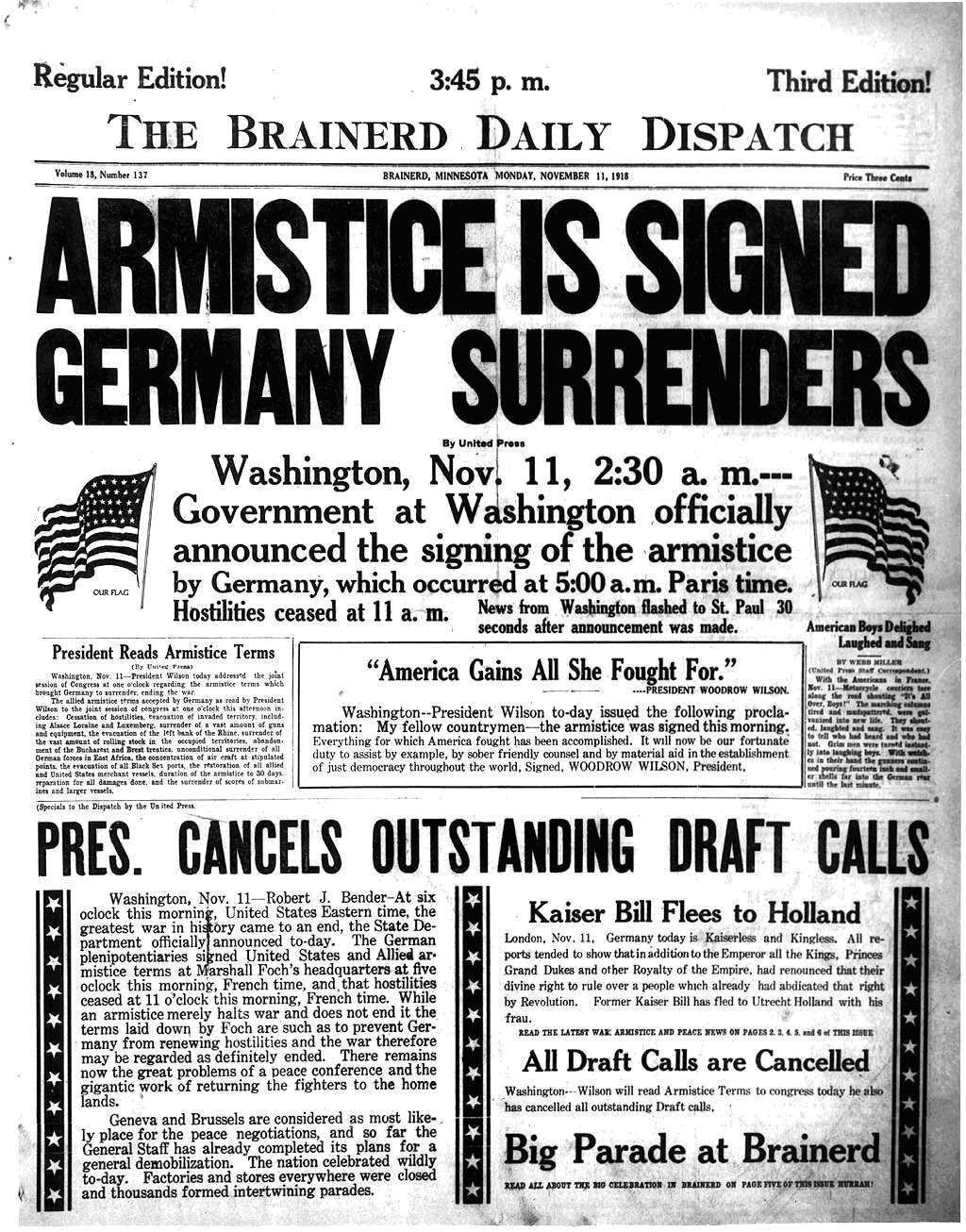 ww1 articles
