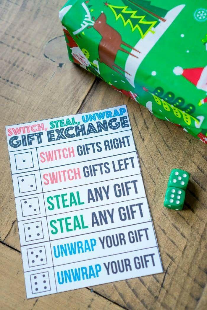 Gift Exchange Game Leadership Activities Pinterest Fiestas De