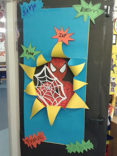 Math Classroom Door Decoration Ideas ~ Super hero classroom door google search