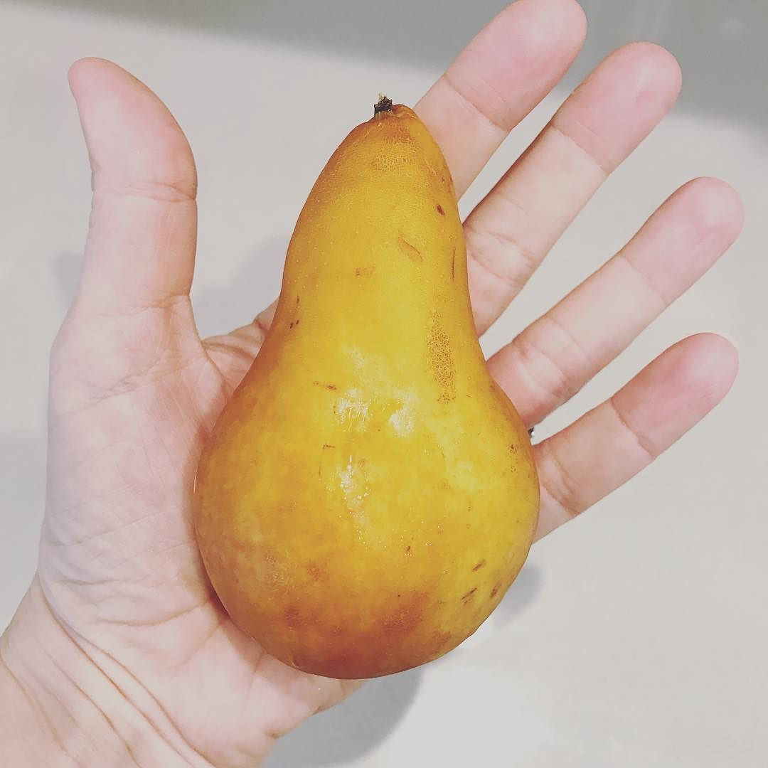 When you eat less processed sugar a juicy pear REALLY DOES taste like dessert.