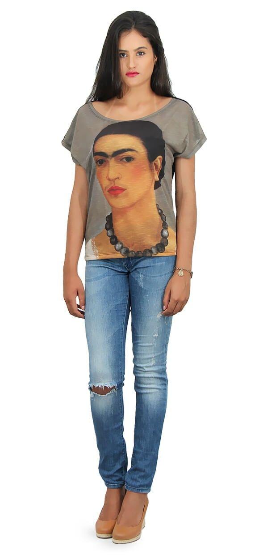 Camisa Autorretrato com colar – Frida Kahlo