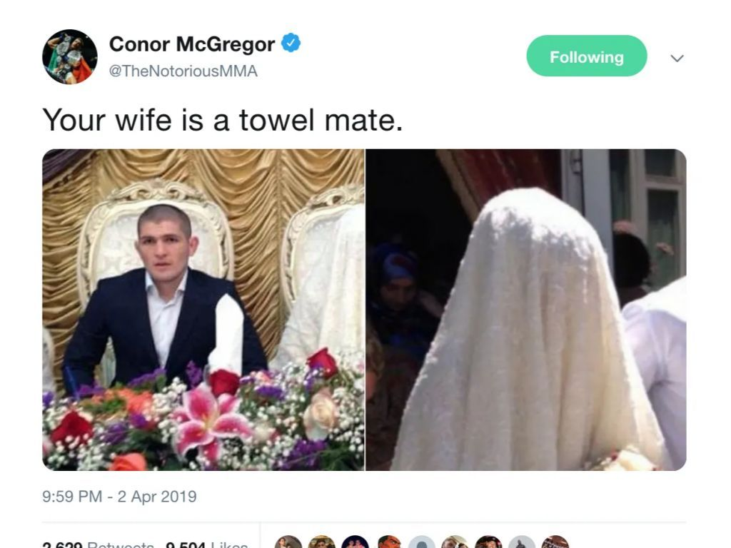 Conor Mcgregor Trolls Khabib On Twitter In Search Of A Rematch By Wife Insult Conor Mcgregor Mcgregor Conor Mcgregor Funny