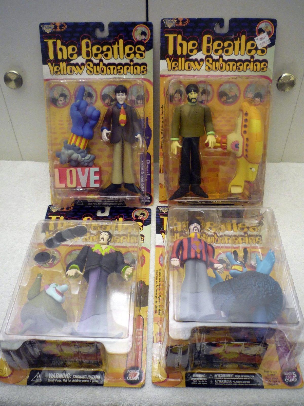 The Beatles Yellow Submarine Figures Series 1 LOT x4 - McFarlane ...