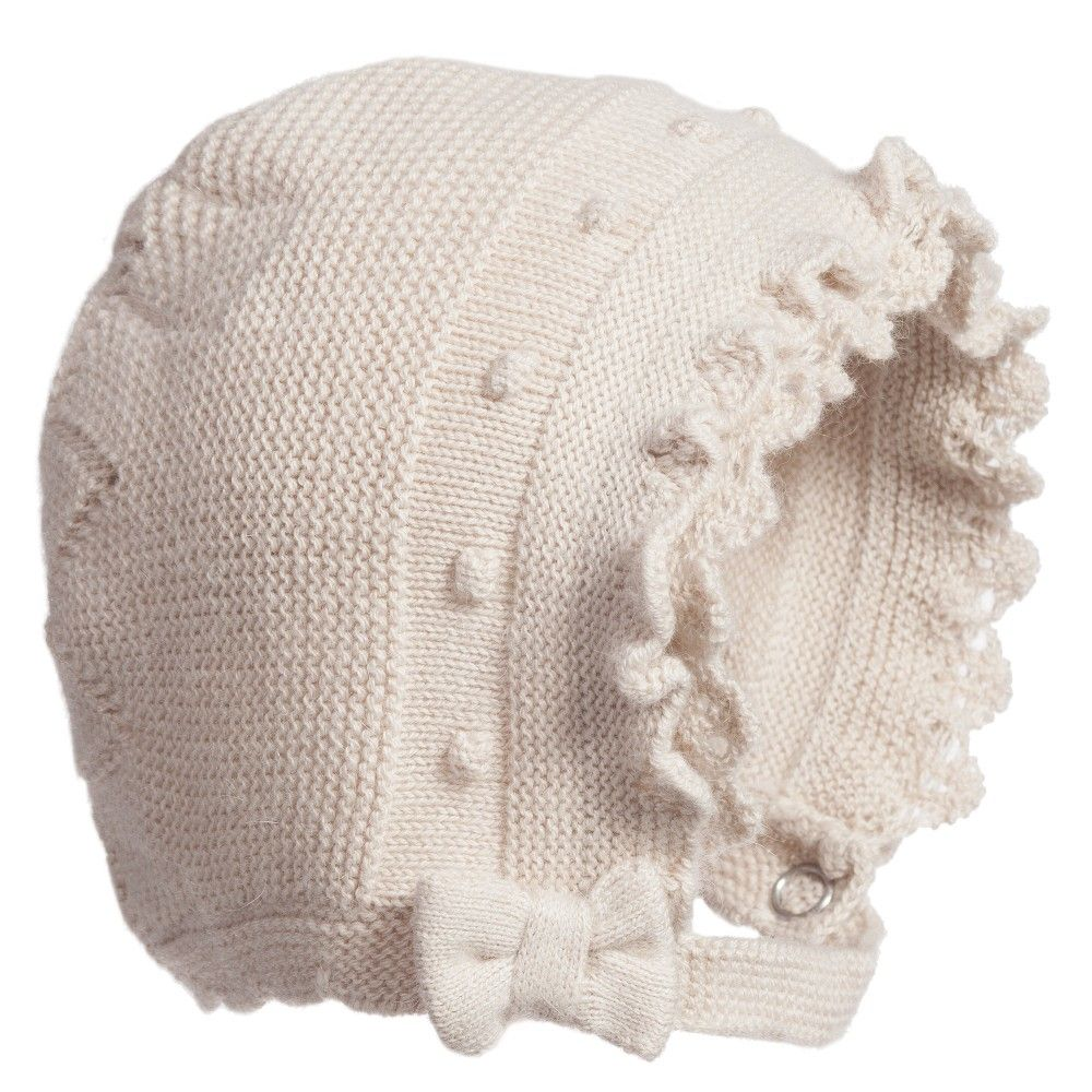 63cace6ce Mayoral Baby Girls Beige Knitted Bonnet at Childrensalon.com ...