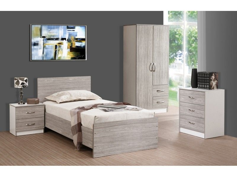 Bedroom Furniture White And Oak Exquisite In Student Uni Room