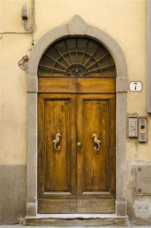 seajaytea:    Sea-Horse Door. Florence, Italy.