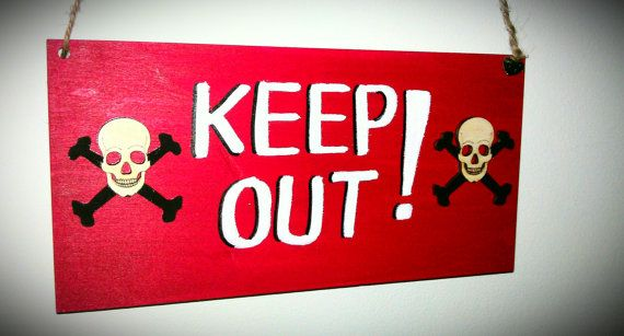 Boys Bedroom 'keep Out' Sign Plaque For Door By TheFairiesWorkshop Best Keep Out Signs For Bedroom Doors