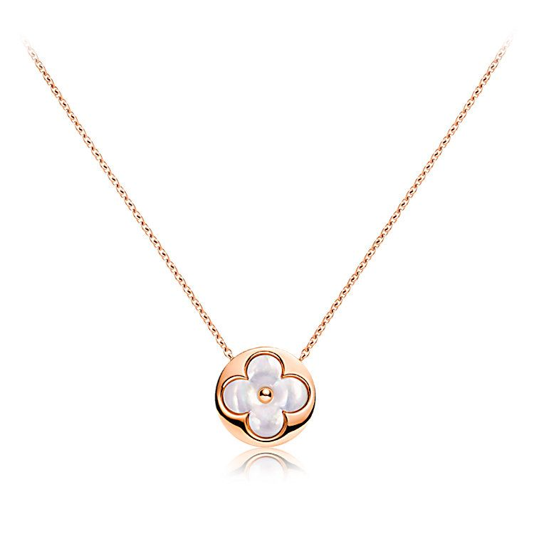 0adcce0e745 colour Blossom sun pendant, pink gold and white mother-of-pearl ...