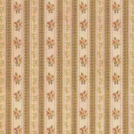 Tapete Blumenstreifen 41157 Schones Gold Braunes Florales Muster