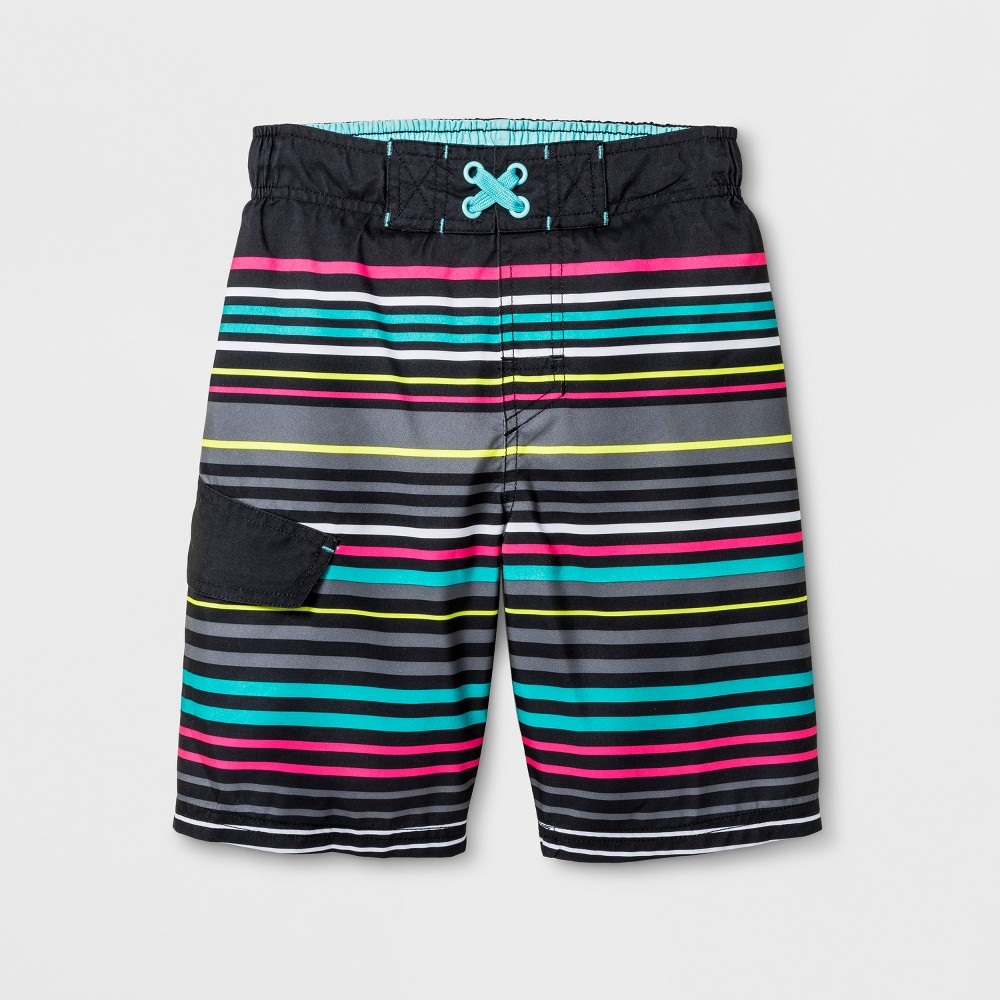 161ade7bc5cb7 Boys' Swim Trunk - Cat & Jack Black L | Products | Boys swim trunks ...