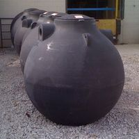 """500-Gallon """"Water Bomb"""" HDPE Spherical Above/Below-Ground Tank (Made in Ohio) Color:BLACK"""