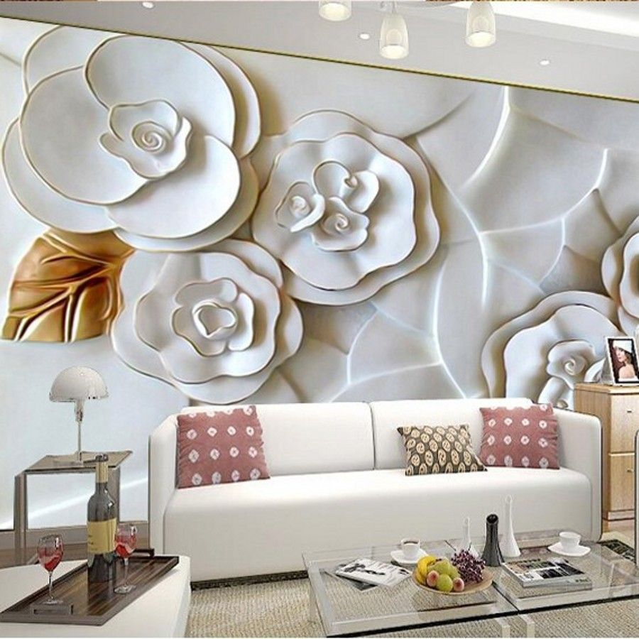 Custom-3d-photo-font-b-wallpaper-b-font-3D-embossed-wall-paper-for ... for Modern 3d Wall Stickers For Living Room  585hul