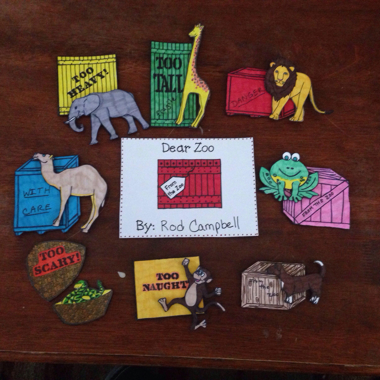 Dear Zoo Flannel Board Preschool Storyboard Zoo Reading