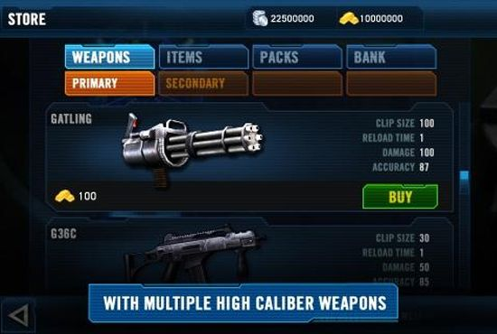 total recall game screenshot weapon menu