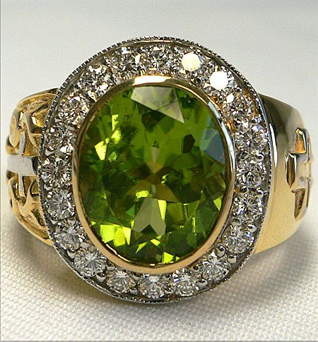 Christian Peridot Ring Peridot Gold rings and Ring