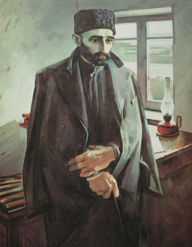 47 Salahov Tair Portret Poeta Sabira 1962 Azerbajdzhanskij Gosudarstvennyj Muzej Iskusstv Baku Muzej Iskusstva Iskusstvo Kartiny