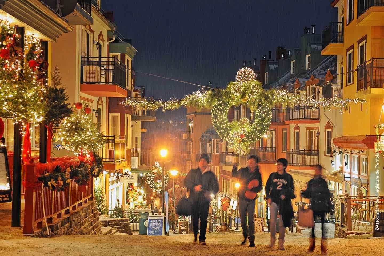 Quebec Steden, Kerstmis, Straat