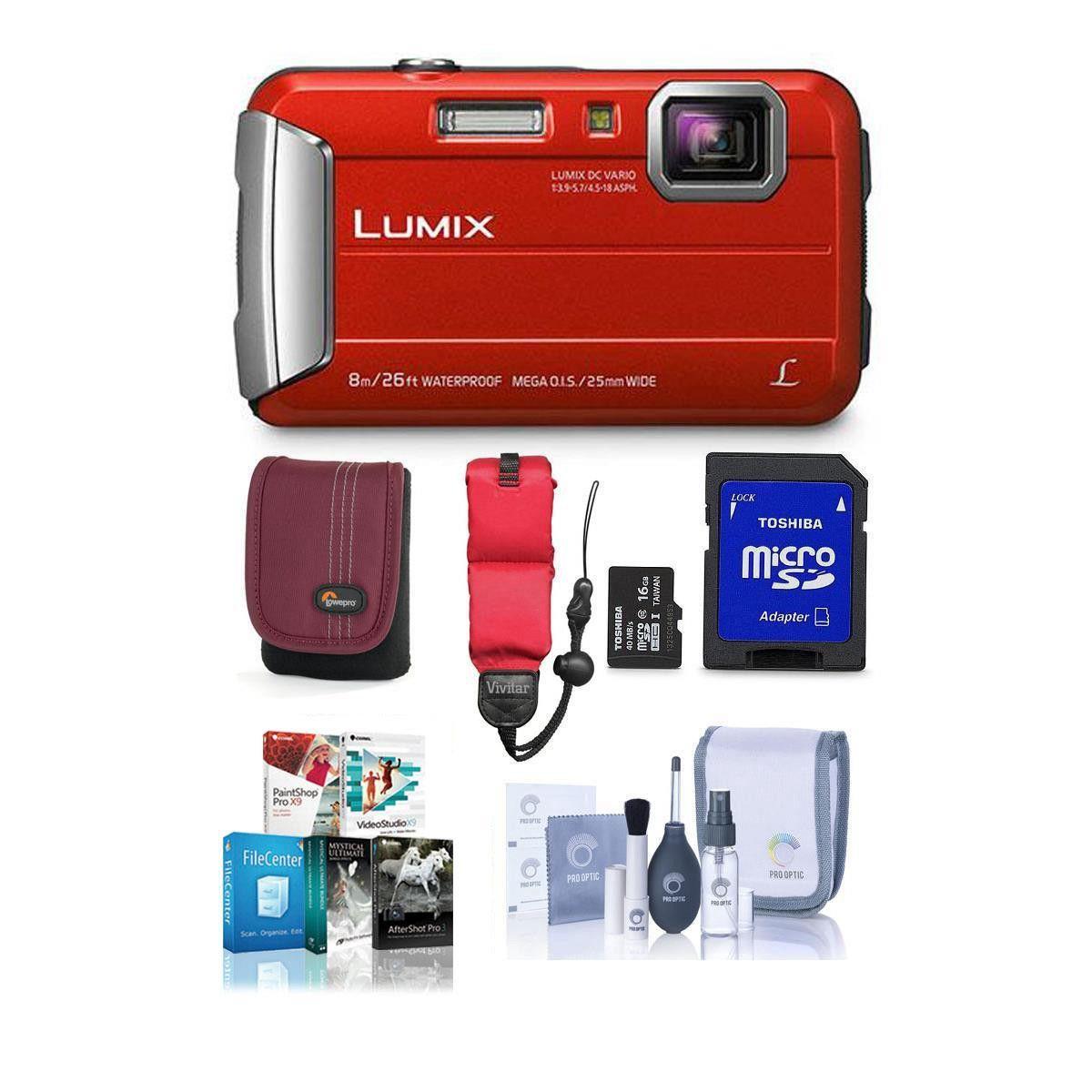 Panasonic Lumix DMC-TS30 Digital Camera with Free