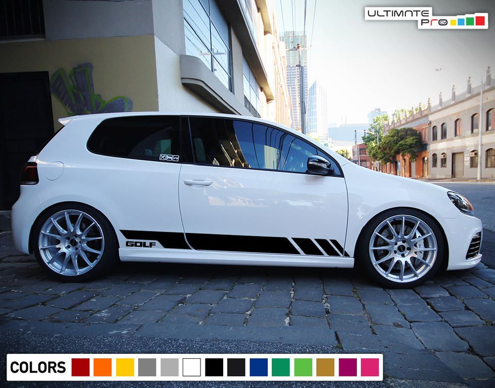Sticker Decal Vinyl Side Door Stripes For Volkswagen Golf