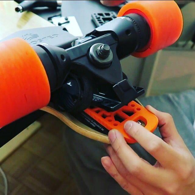 Skateboard Longboard Nose Guard Tail Guard Bash Guards 2 pcs Orange for Boosted