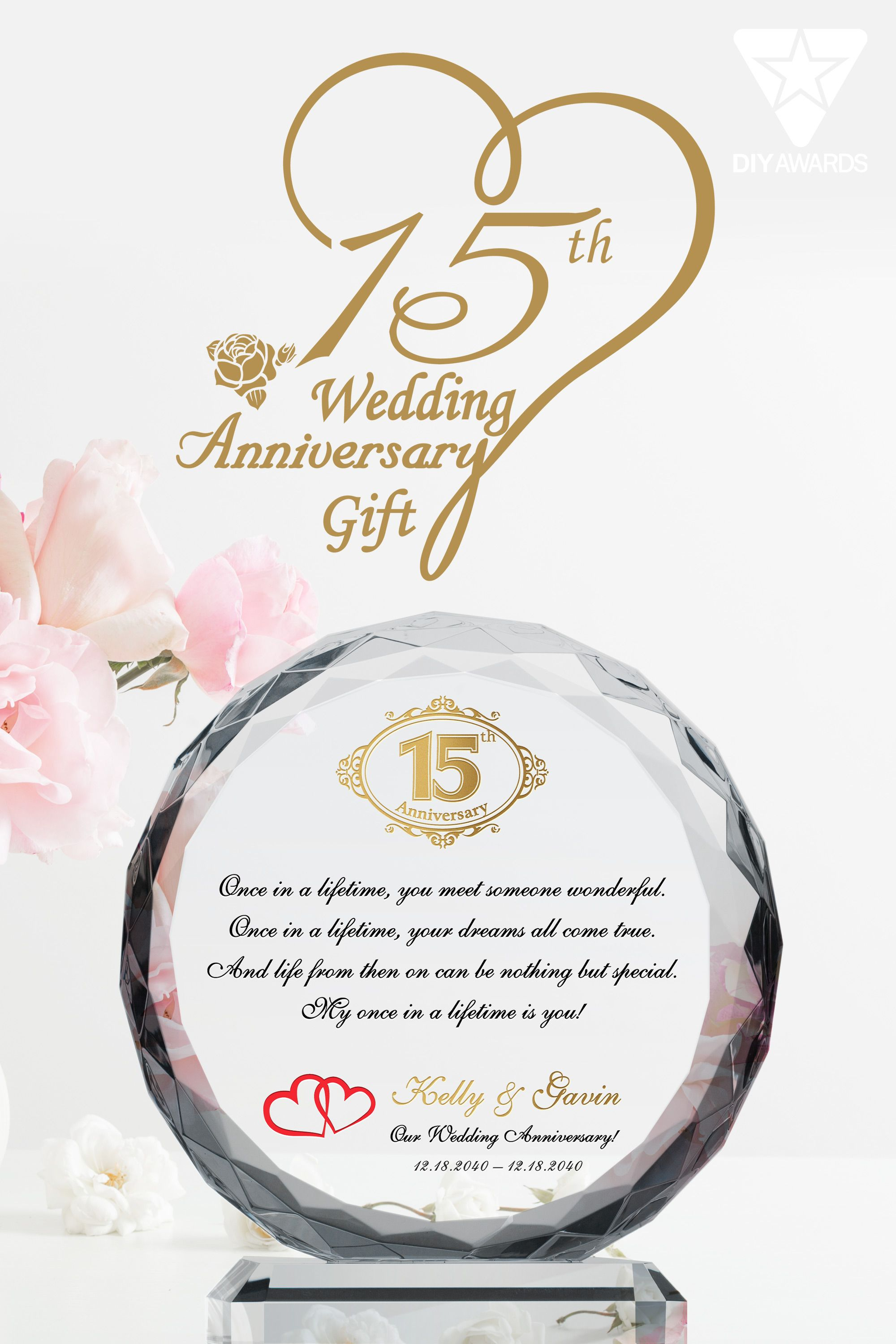 15th crystal wedding anniversary gifts in 2020 15th