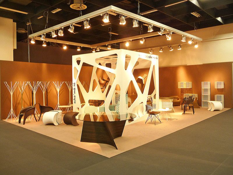Exhibition Stand Design And Construction : Interesting structure in the middle id exhibition