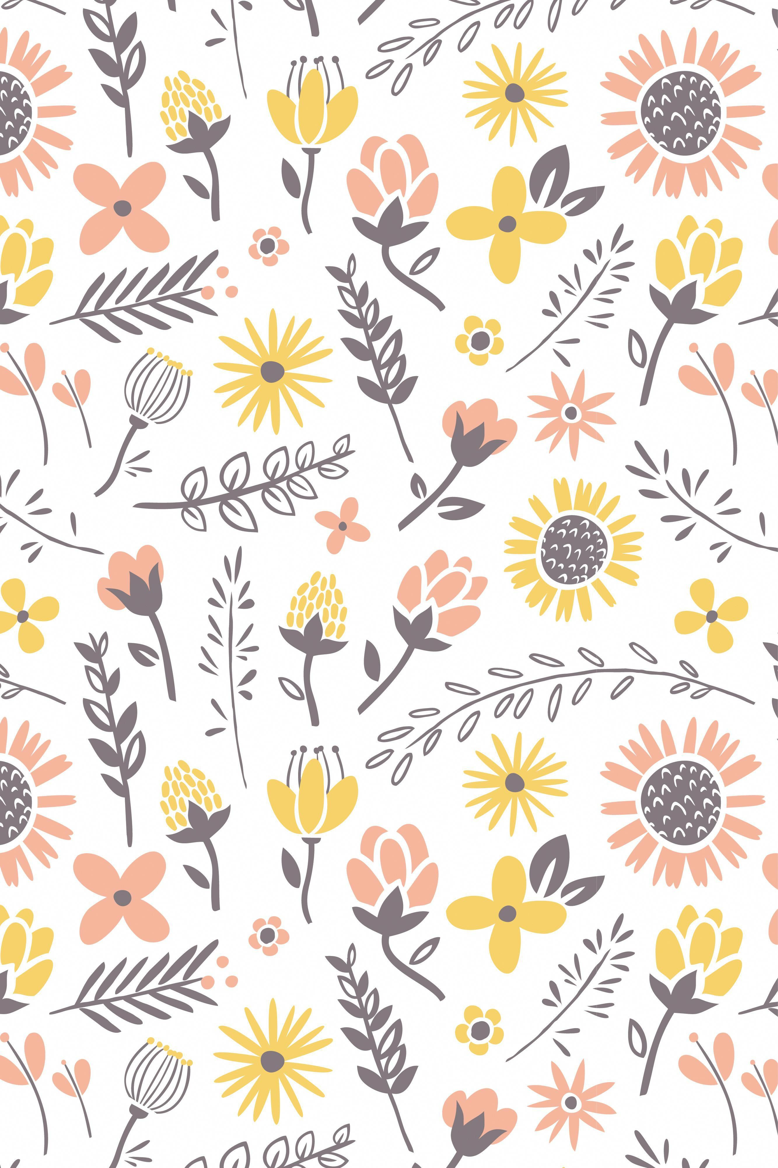 Floral Pattern Iphonewallpapersummer Flower Phone Wallpaper