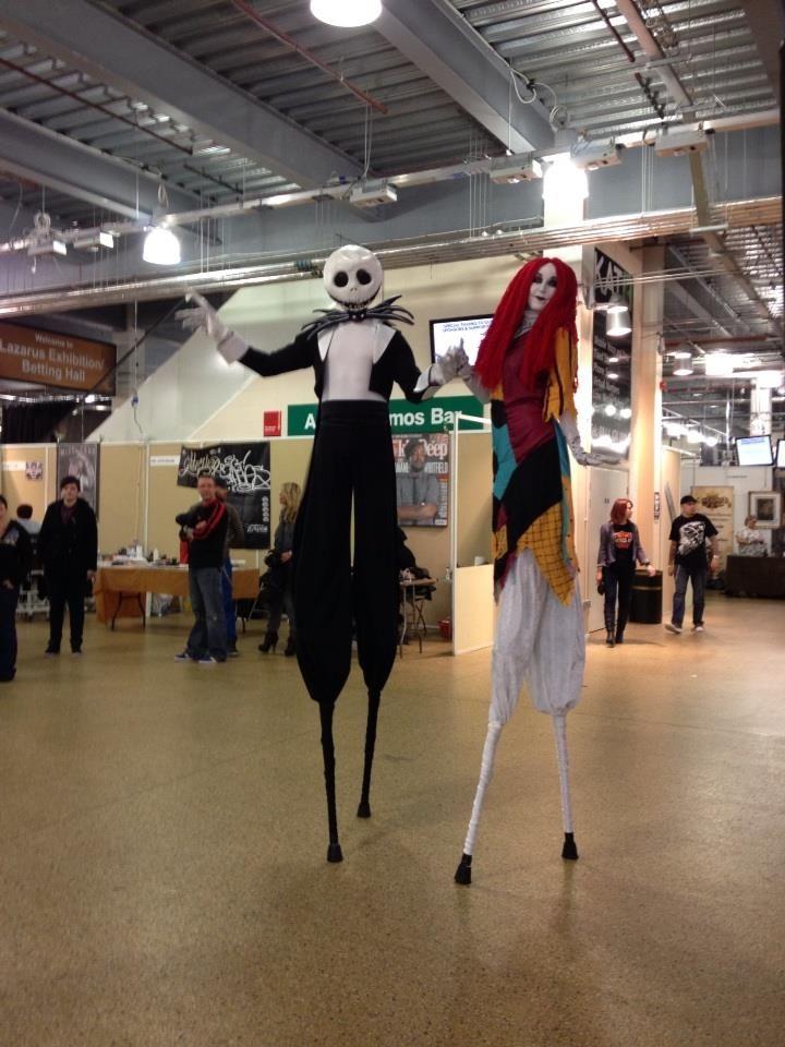 Tim Burton and Halloween themed stilts wwwh2ohentertainment - halloween dance ideas