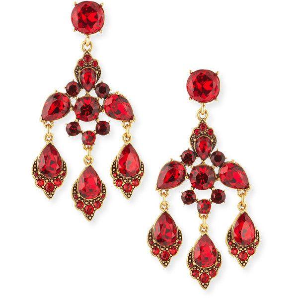 Oscar de la renta cardinal red crystal chandelier clip on earrings oscar de la renta cardinal red crystal chandelier clip on earrings 10 690 uah aloadofball Image collections