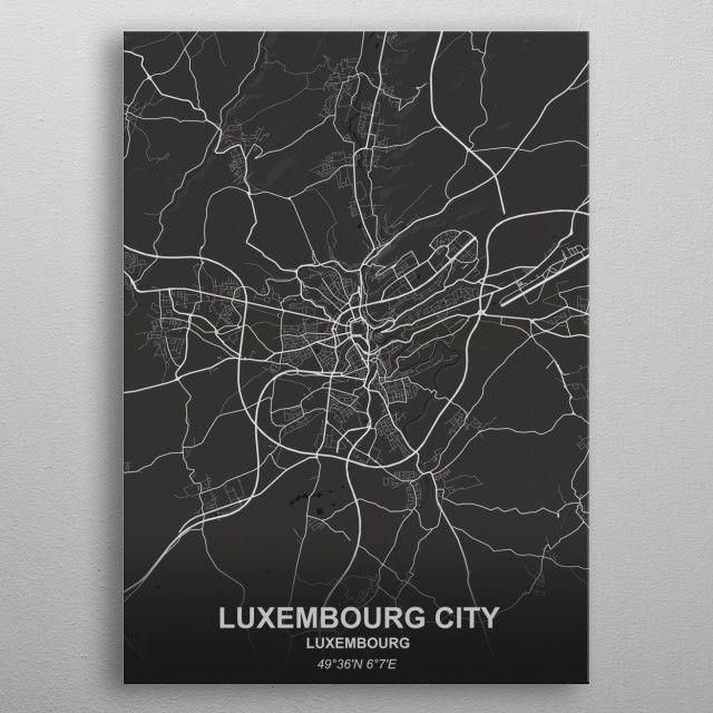 LUXEMBOURG CITY by Rockstone | metal posters - Displate | Displate thumbnail