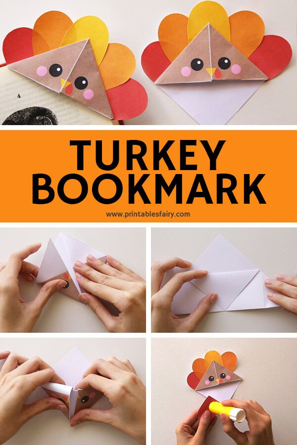 DIY Turkey Corner Bookmarks