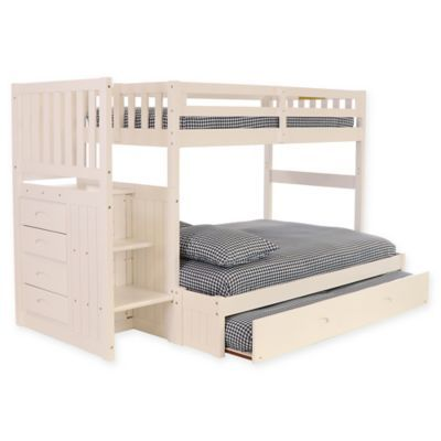Discovery World Furniture Stair Stepper Twin Full Bunk Bed With
