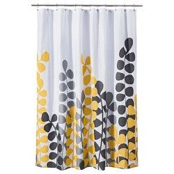 Room Essentials Vine Shower Curtain Yellow Coral Yellow Gray