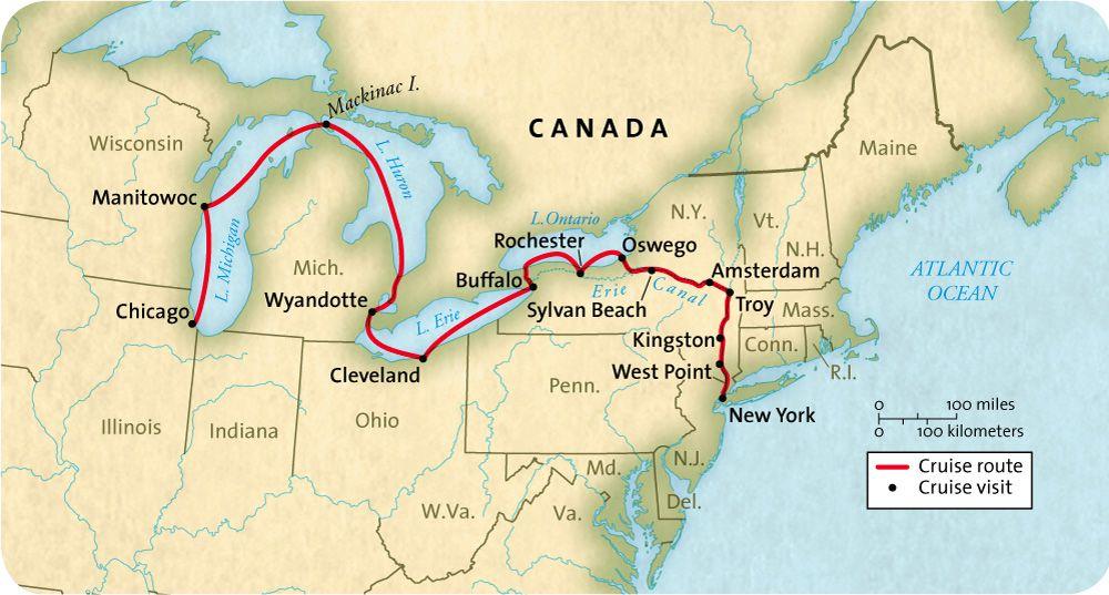 great lakes waterway map Cruise Great American Waterways Cruise Great Lakes Cruises great lakes waterway map