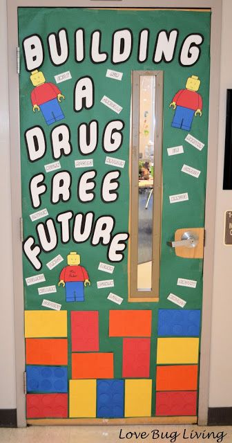 Classroom Door Decoration Ideas Rd Grade ~ Red ribbon week door decoration with an anti drug theme
