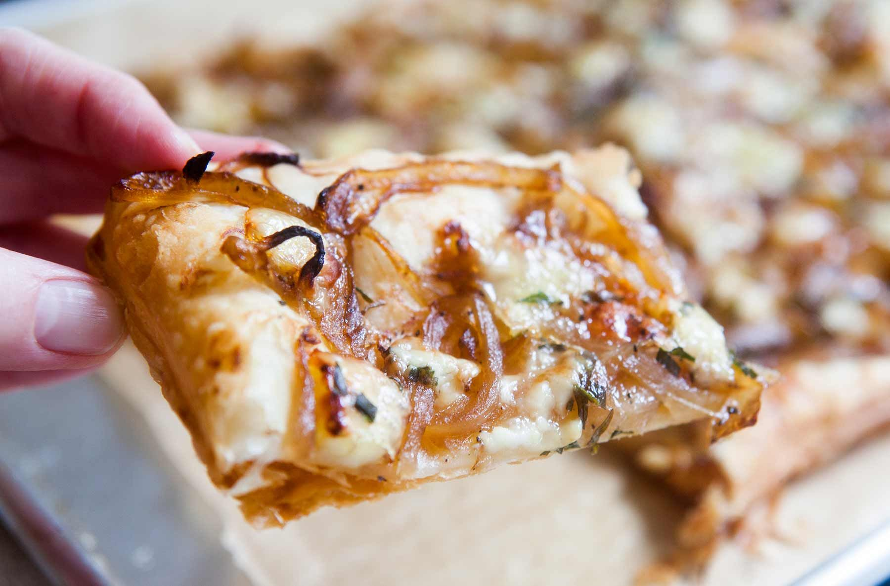 Caramelized onion tart with and brie recipe