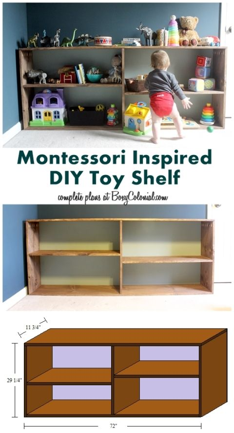 Complete Tutorial On How To Build This Simple, Montessori Inspired Toy Shelf