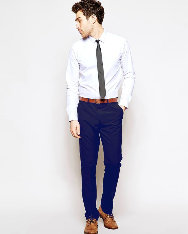 7871159ec9e Try white shirt with slim tie for party. You re gonna rock it!  PartyOutfit   fashion