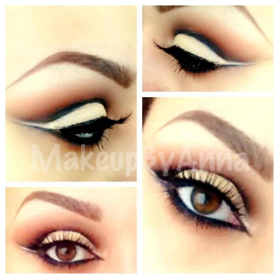 Cut Crease Eyeshadow~INGLOT #355 & MAC carbon, sketch & red brick on the crease. Makeup by Anna