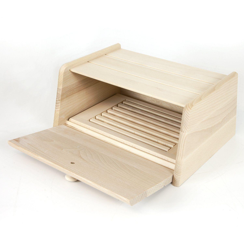 Brotkasten 40 Cm HolzFee BK S Natur Pur (komplett Unlackiert) Holz  Brotkiste Brotbox