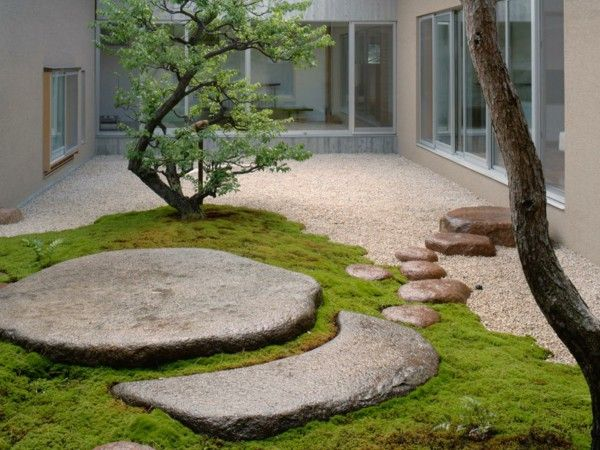 Superior Feng Shui Garden Design Gravel Stone Slabs Courtyard