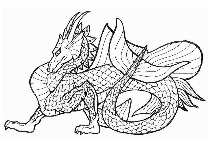 Coloring page sea dragon img 11045. Pagine da colorare