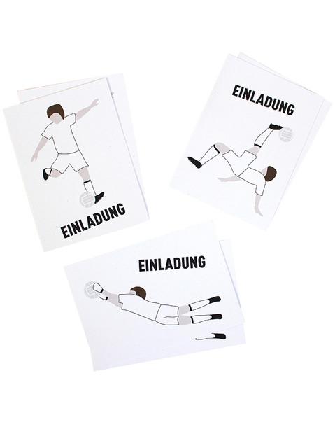 """Sophies Kartenwelt 11 /""""Fußball Einladungskarten Mit Umschlä Mit Umschlägen"""
