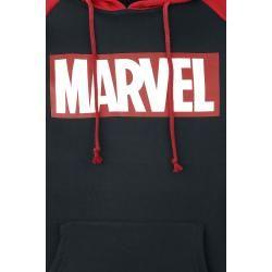 Photo of Marvel Logos Herren-Kapuzenpullover – schwarz rot – Offizieller & Lizenzierter Fanartikel
