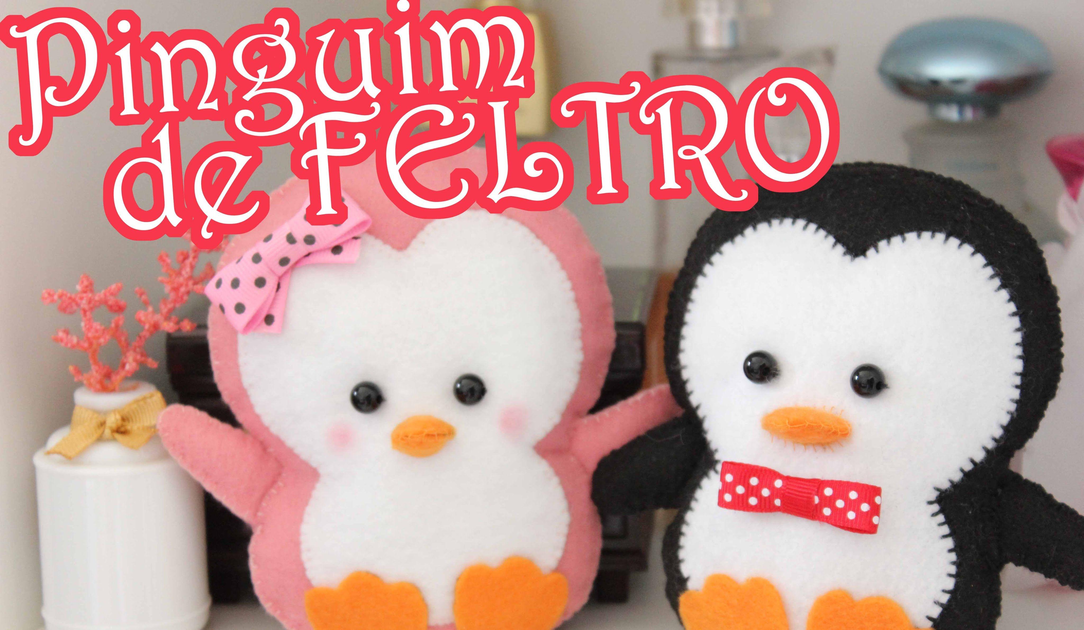 DIY - Pinguim de Feltro #ChádaAlice