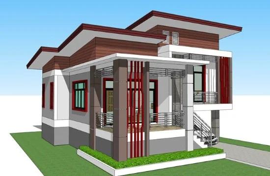 11 Desain Rumah Modern 2020 Dengan Split Level Di 2020 Desain