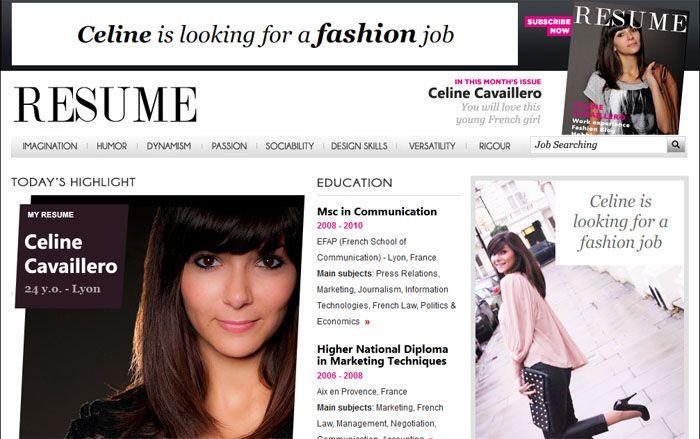 Cv Céline à La Sauce Du Magazine De Mode Vogue Cv Original