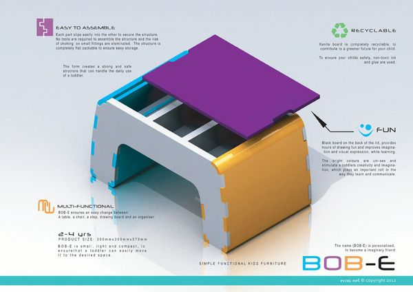 Bob-e by Erna Nel, via Behance